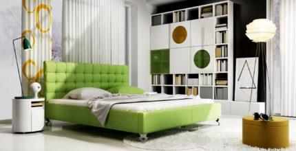 Sypialnia wstylu Loft vs łóżko tapicerowane