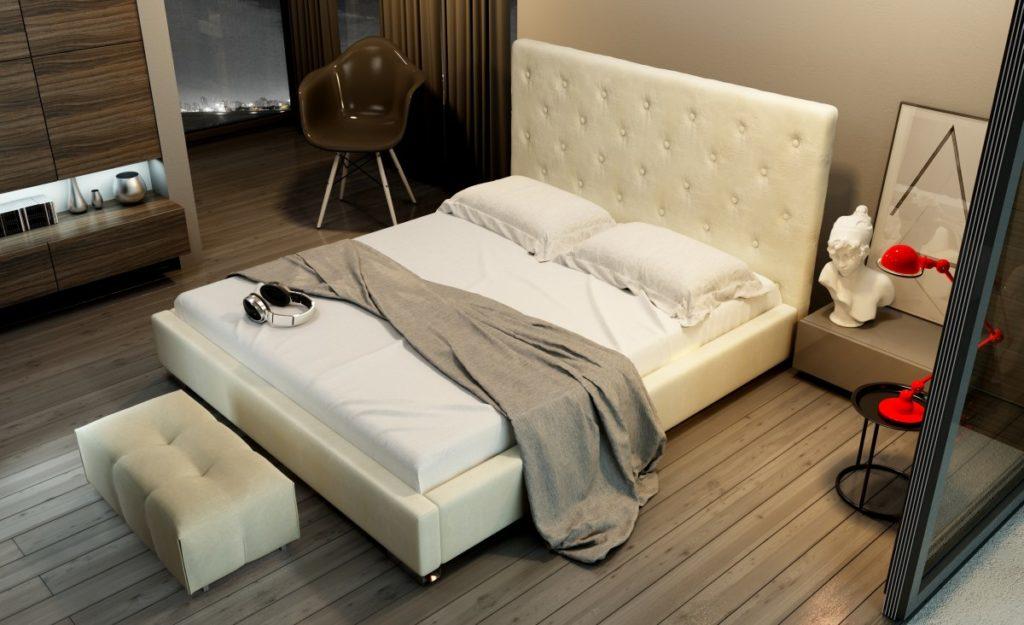 Łóżko tapicerowane od dobrego producenta