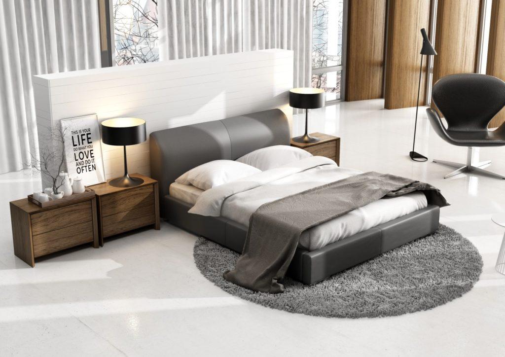 Tapicerowane łóżko sypialniane Classic Lux