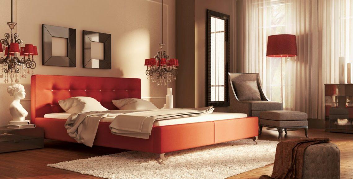 Eksluzywne łóżko tapicerowane guana z zagłówkiem
