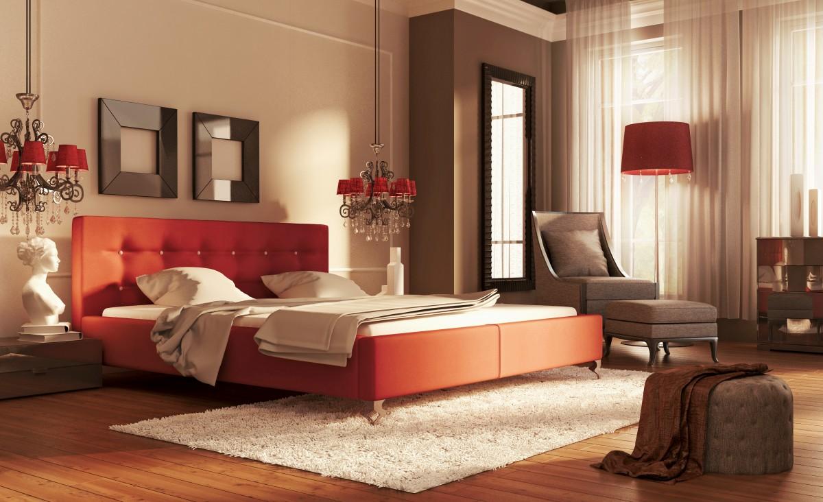Łóżko tapicerowane GUANA