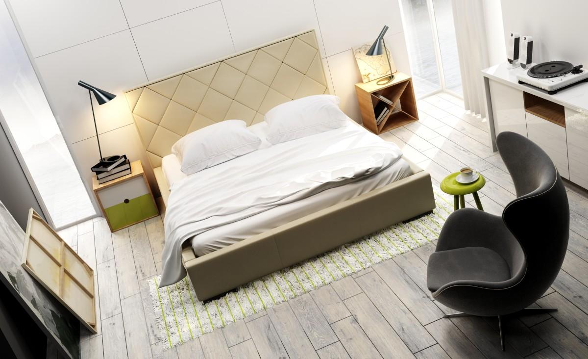 Łóżko tapicerowane QUADDRO CARO