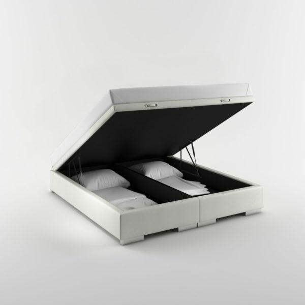 Tapicerowane łóżko z pojemnikiem