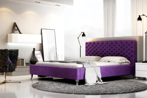 Łóżko tapicerowane LAZIO
