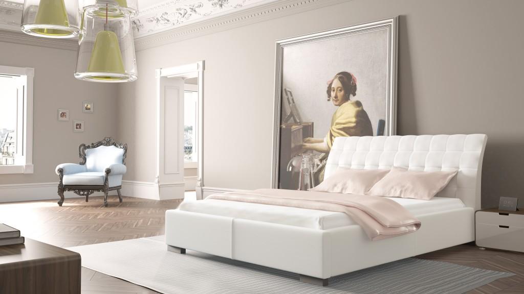 łóżko tapicerowane madison prestige o wymiarach 140x200 z zagłówkiem