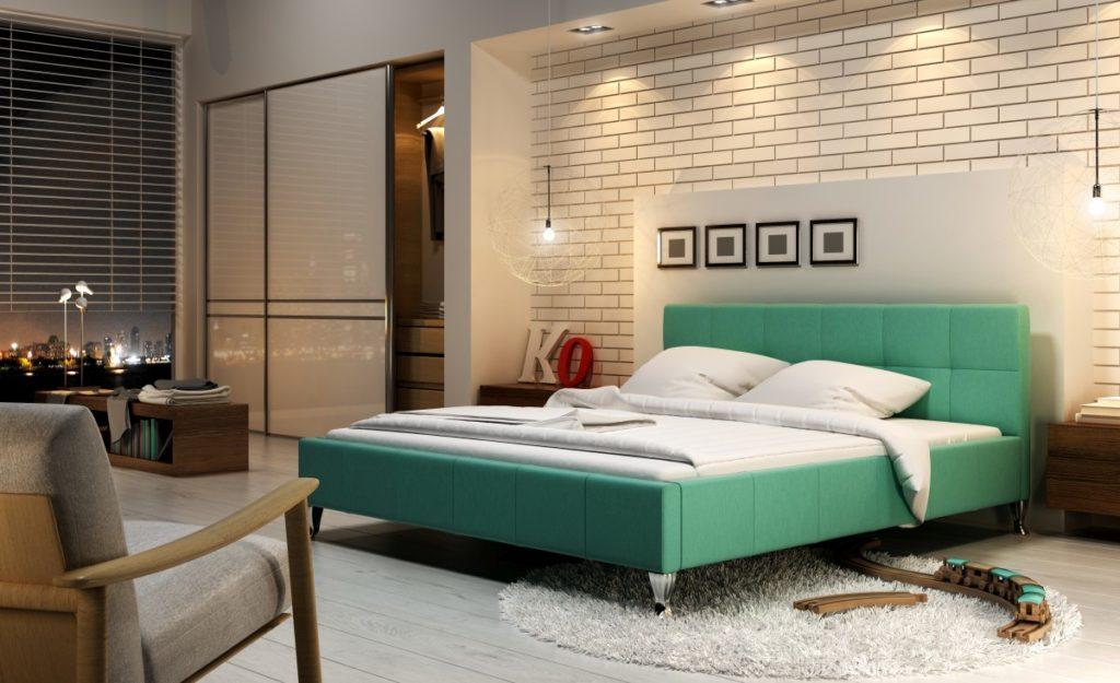 Młodzieżowe łóżko tapicerowane z zagłówkiem Futura