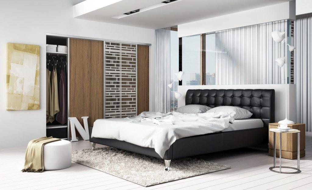 Nowoczesne łóżko tapicerowane do sypialni