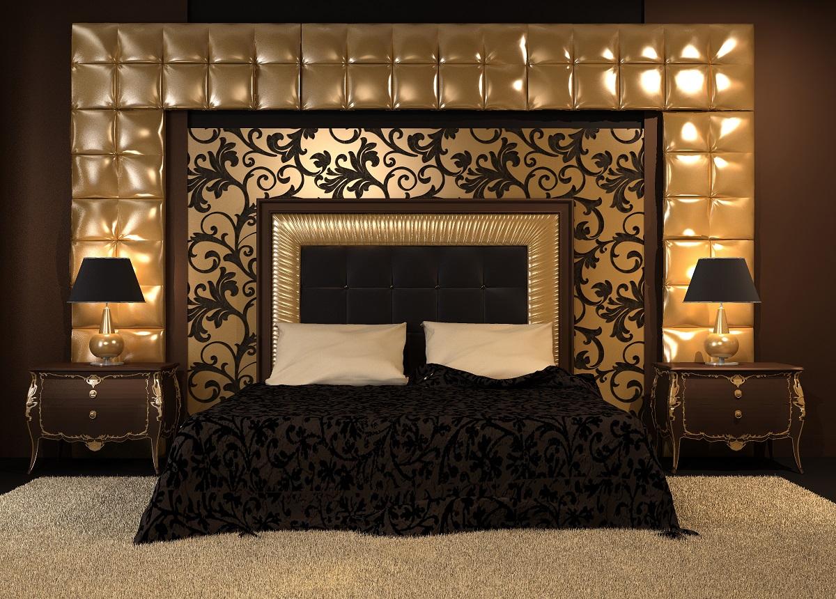 Sypialnia W Stylu Glamour Z Nowoczesnym ł 243 żkiem
