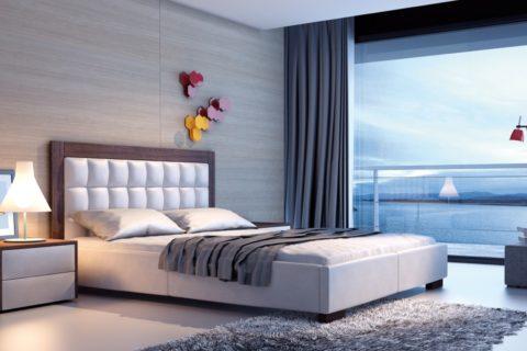 Łóżko tapicerowane AZURRO