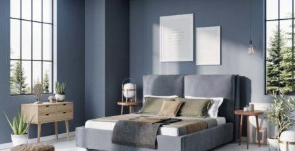 Nowoczesna aranżacja sypialni vs Łóżko tapicerowane