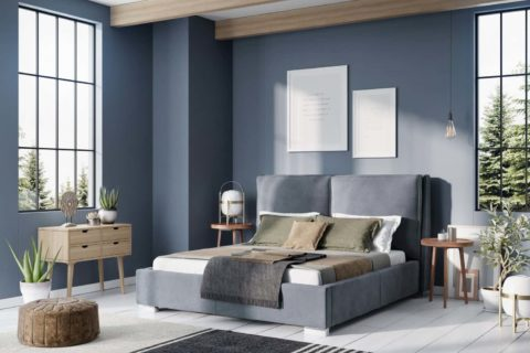 Łóżko tapicerowane KUSENO