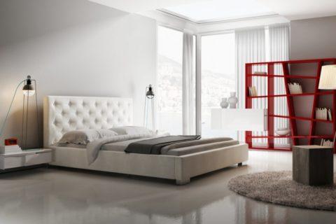 Łóżko tapicerowane LOFT