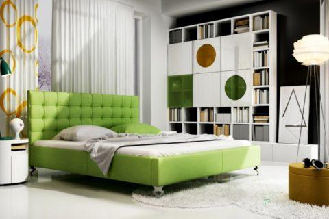 Łóżko tapicerowane MADISON