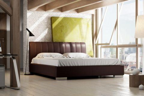 Łóżko tapicerowane NAOMI LUX