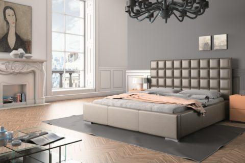 Łóżko tapicerowane QUADRO MINI