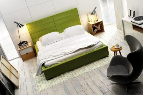 Łóżko tapicerowane QUADDRO DOUBLE
