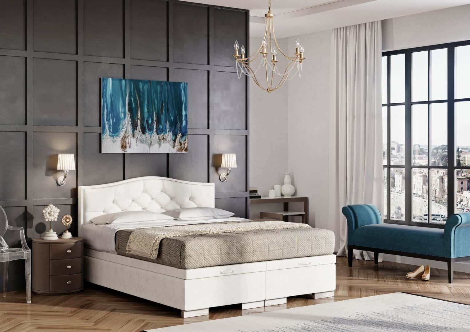 Łóżko tapicerowane BEAUTY