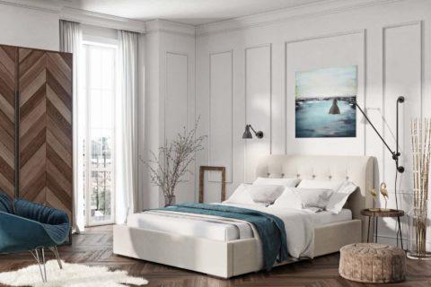 Łóżko tapicerowane GUANA LUX