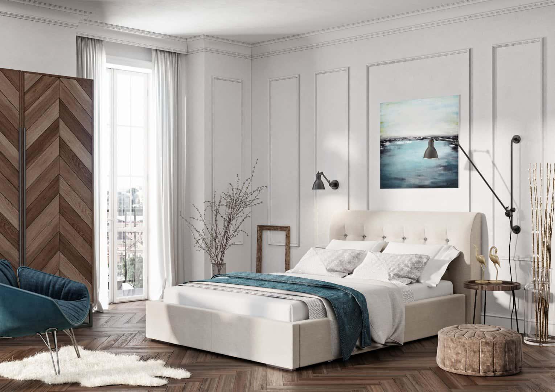 Łóżko tapicerowane Genua Lux
