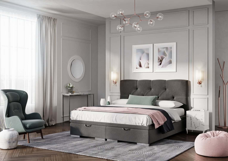 Łóżko tapicerowane LAZIO MAXI