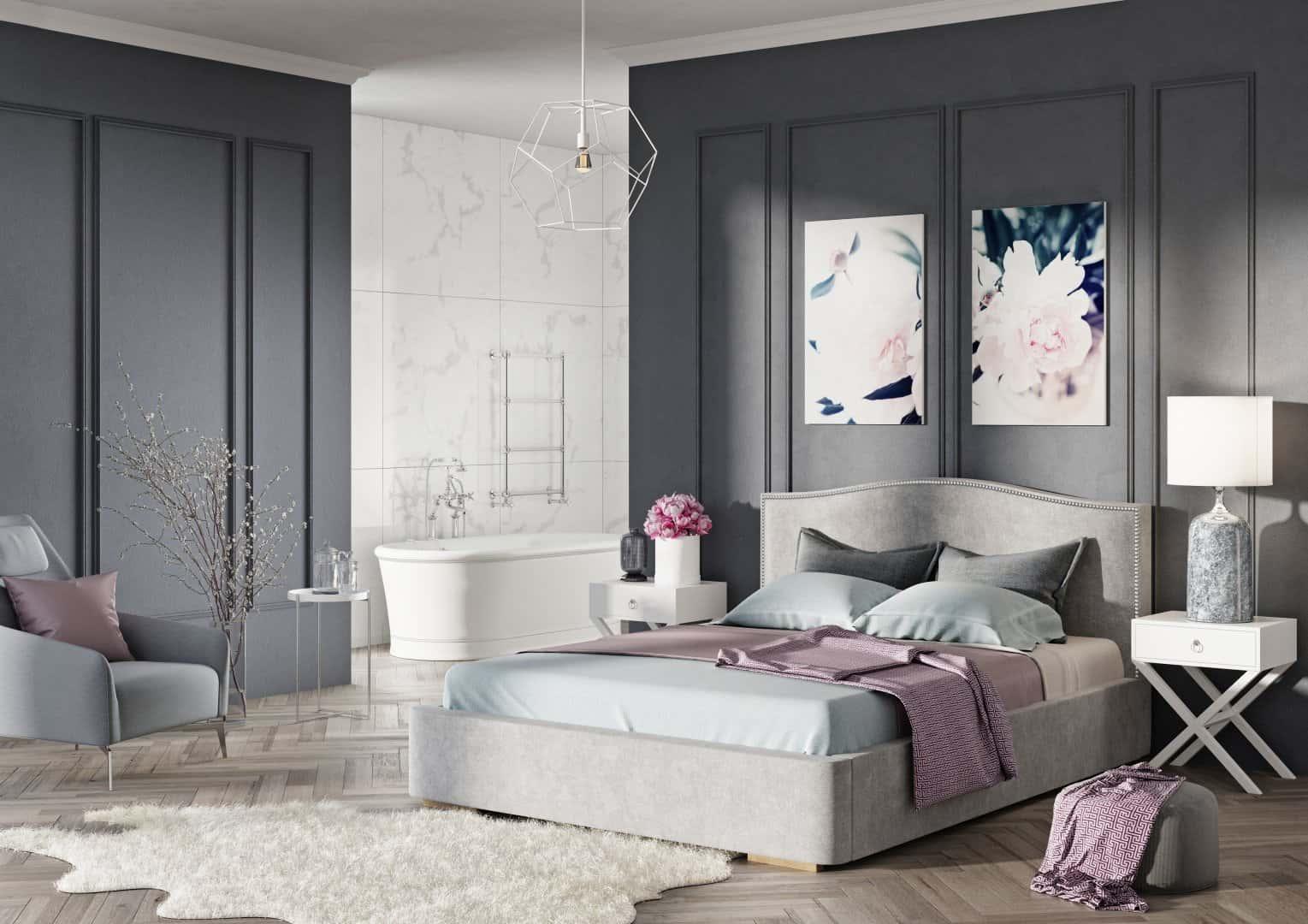 Łóżko tapicerowane Livio