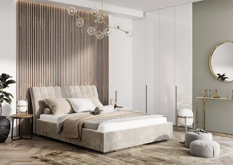 Łóżko tapicerowane NAOMI PRESTIGE