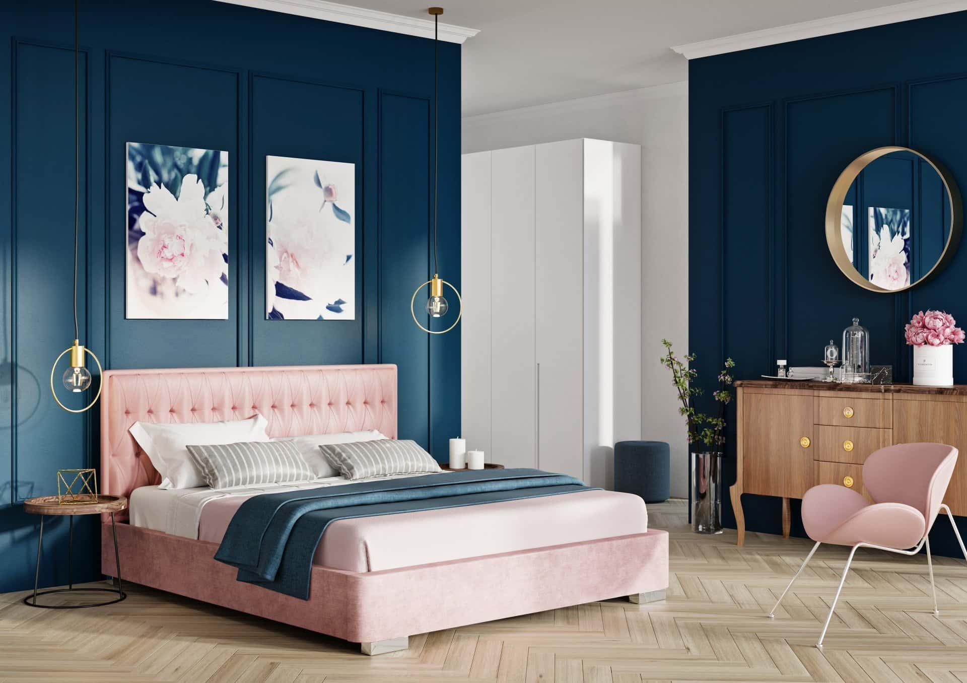 Łóżko tapicerowane PRINCE