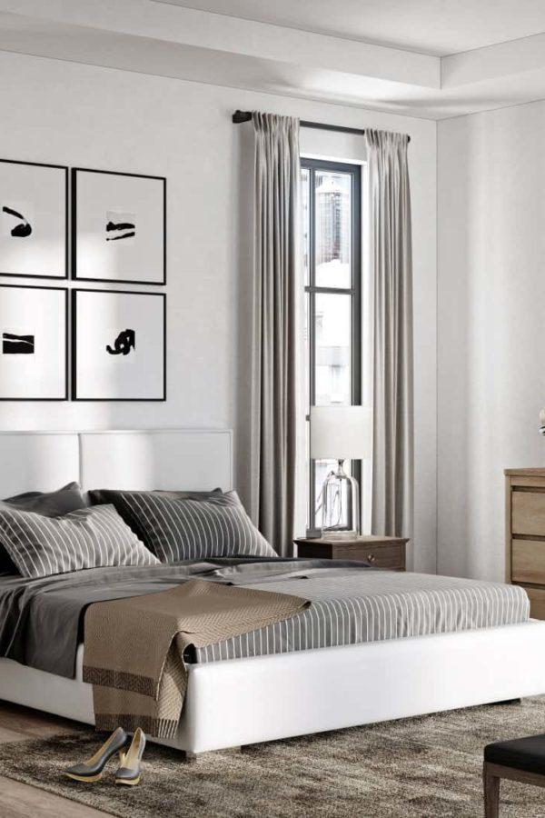 Łóżko tapicerowane QUADDRO DUO