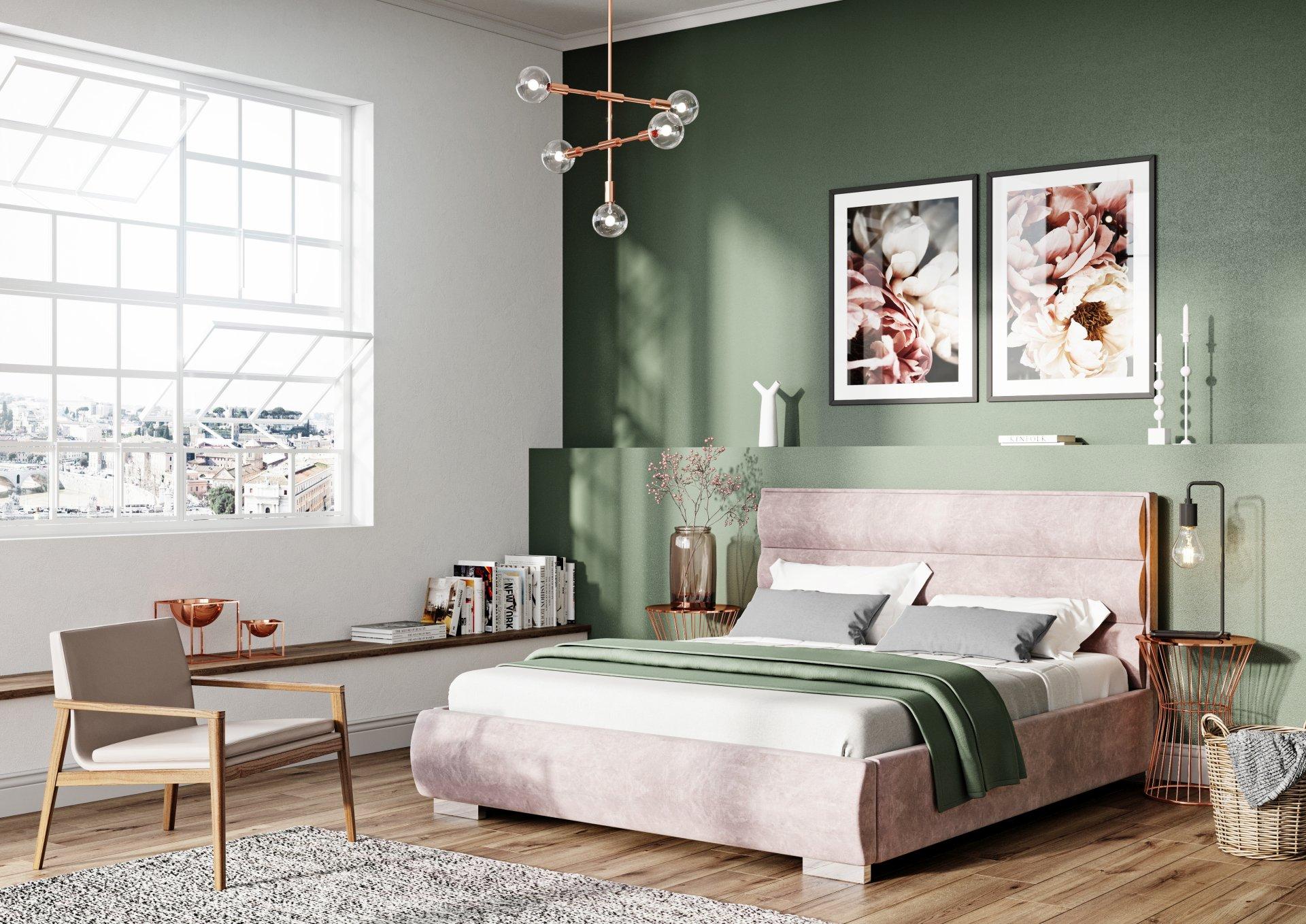 Łóżko tapicerowane QUADDRO ROUND