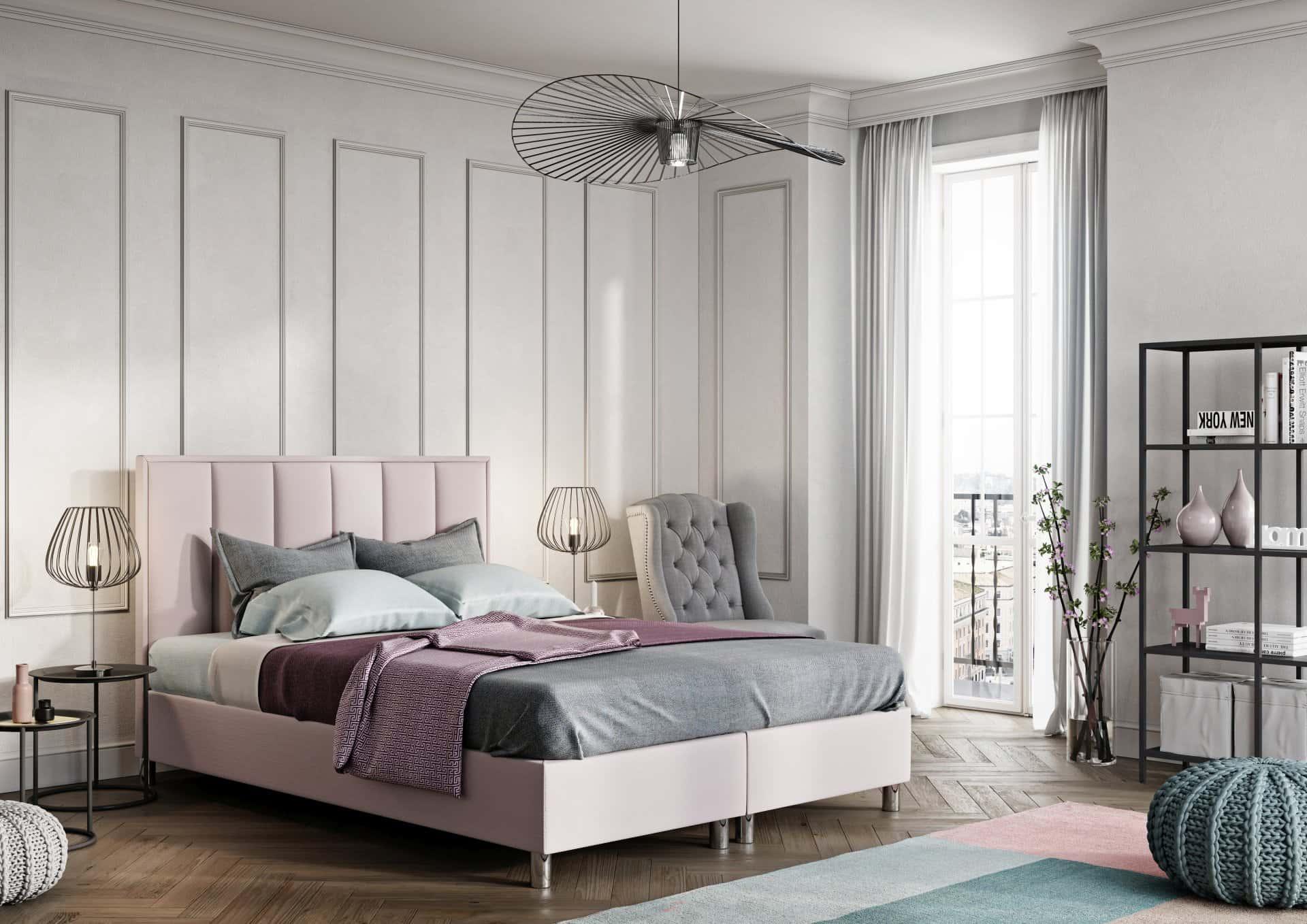 Łóżko tapicerowane QUADRO VERTICAL