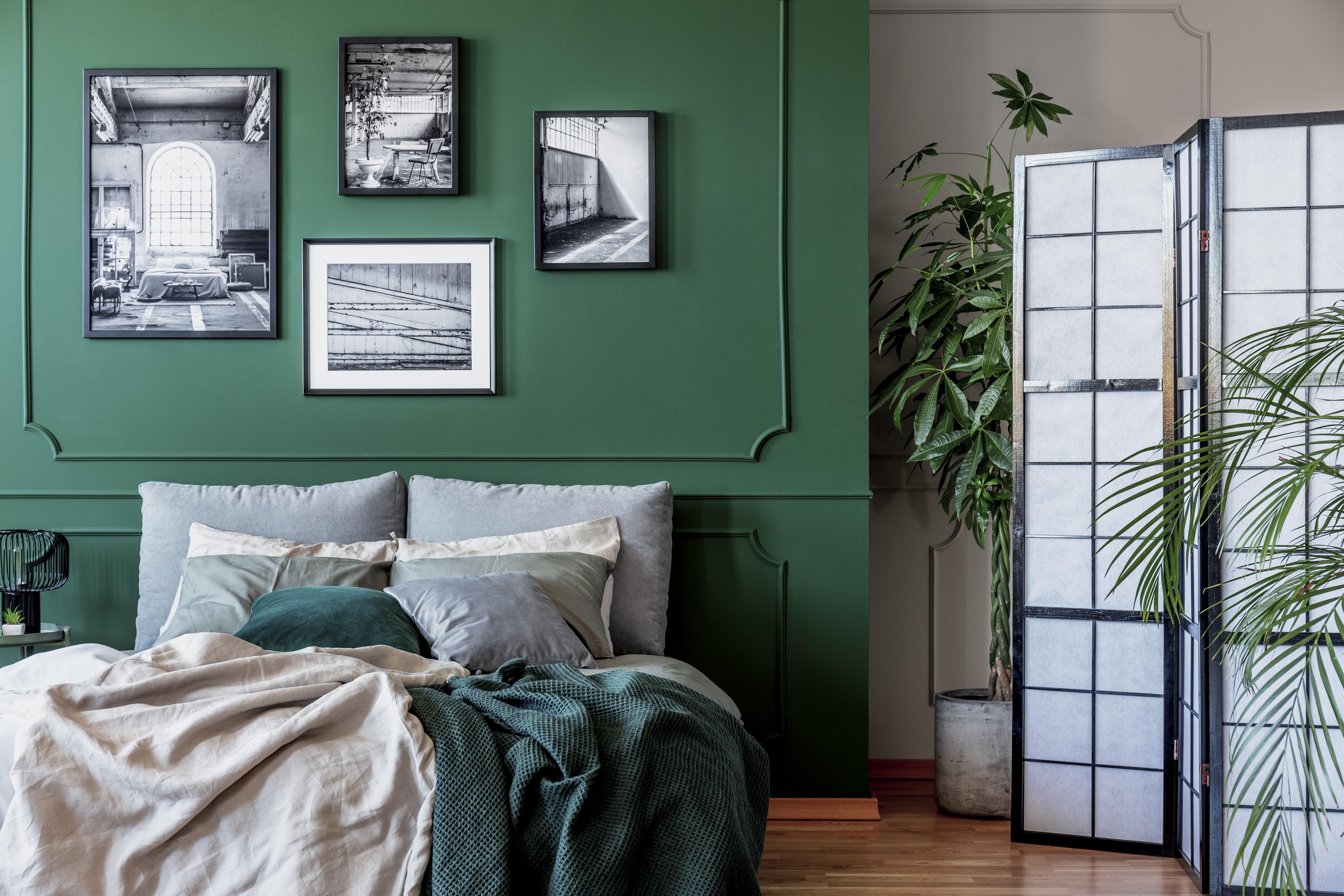 Zachwycające wnętrze sypialni